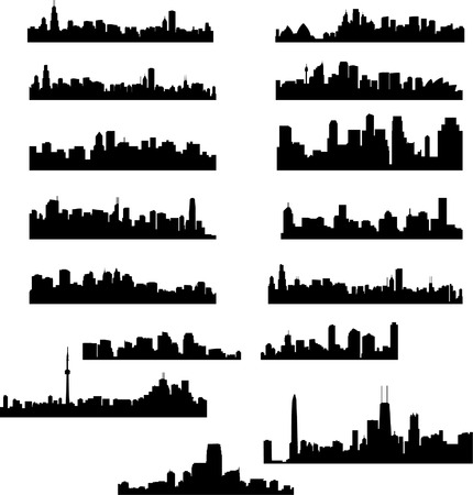 skylines: city skylines collection Illustration
