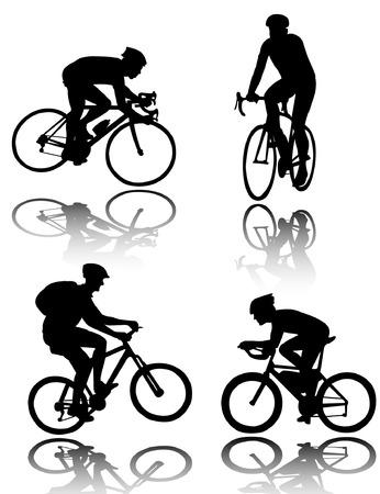 Bicyclists Silhouetten - Vektor Standard-Bild - 6374641