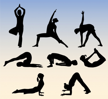 abdominal exercise: yoga poses  Illustration
