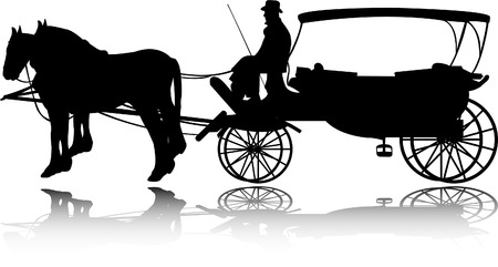 chariot: carriage silhouette