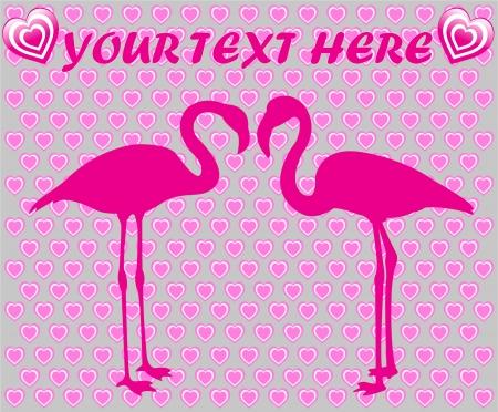 love flamingos Vector