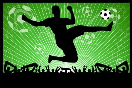 soccer concept  Stock Illustratie