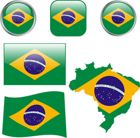 Brazil buttons - vector Vector