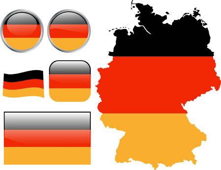 Allemagne drapeau boutons.