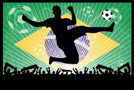 soccer concept (Brazil). Stock Vector - 7198992
