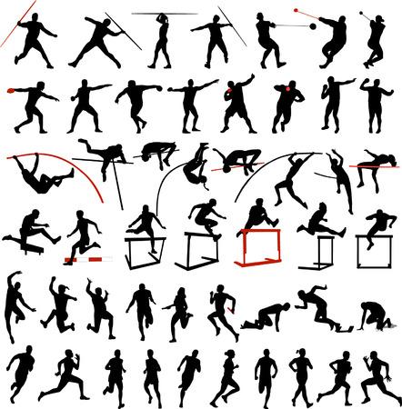 lanzamiento de jabalina: gran colecci�n de hombre de atletismo y mujer