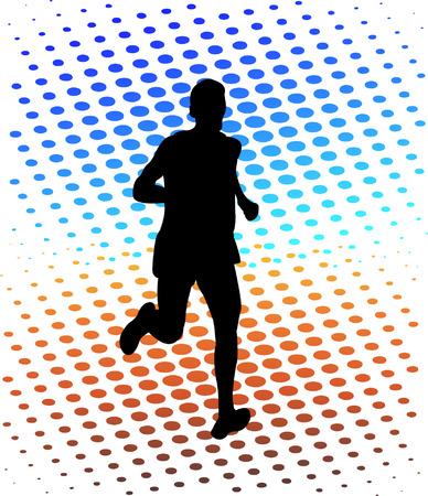 Laufenden Mann silhouette  Standard-Bild - 7461579
