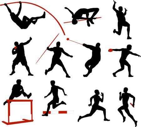 atletisch: sportieve collectie  Stock Illustratie