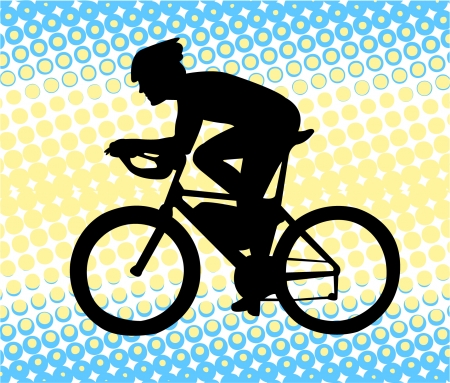 Bicyclist  Stock Vector - 7461573