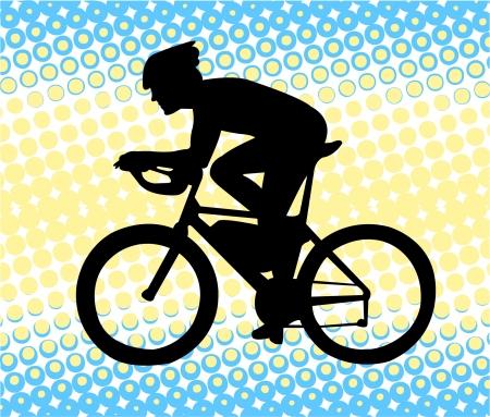 Bicyclist Stock Vector - 7461573
