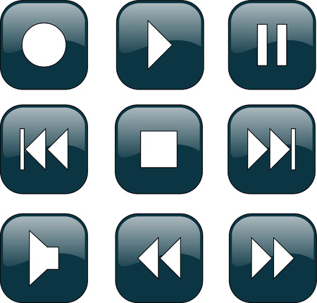 audio-video control buttons  Stock Vector - 7906309