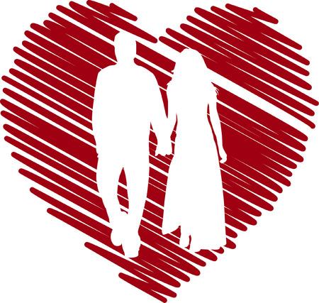 coppia in amore  Vettoriali