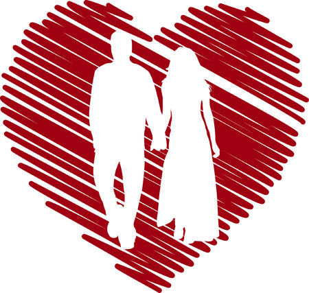 couple in love  Stock Vector - 7906311