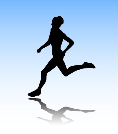 woman run: woman running
