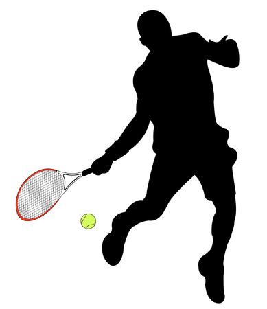 Tennis-Spieler   Standard-Bild - 7978537