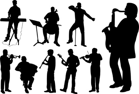 musicians collection  Vector