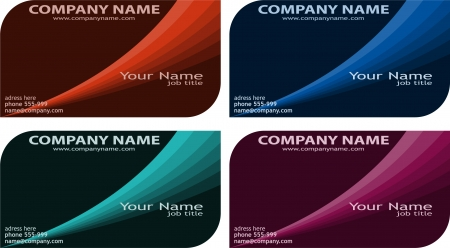 set of modern business cards