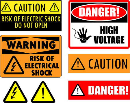 safety electrical signs Stock Vector - 8255648