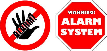 se�ales de precaucion: protegidos por signos de sistema de alarma