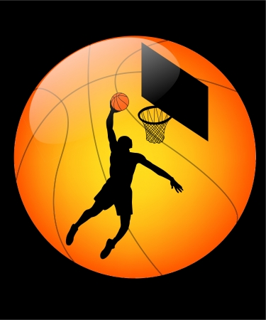 basketball button Stock Illustratie