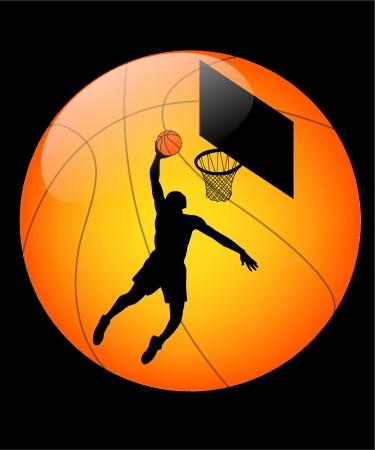 basketball button Illustration