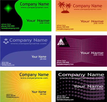 business card templates Stock Vector - 8255637