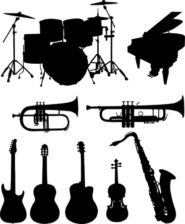 musical instruments collection Stock Vector - 8255636