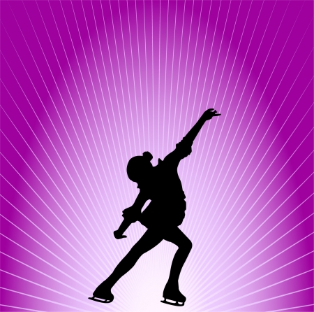figure skating - vector Stock Vector - 8422230
