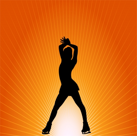 figure skating - vector Stock Vector - 8422231