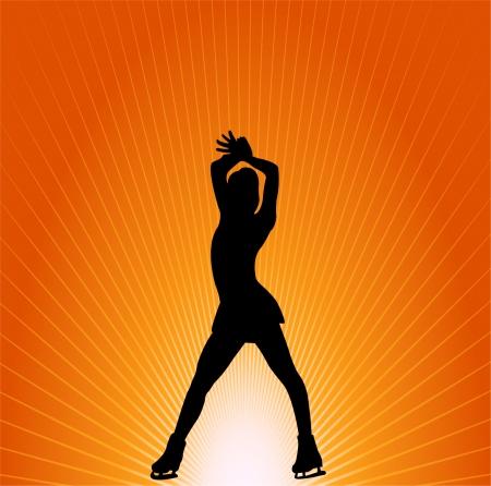 figure skating - vector