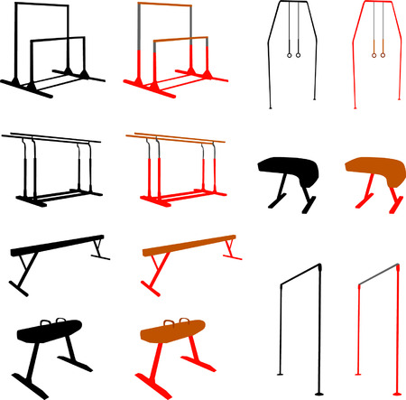 pommel: gymnastic equipment - vector