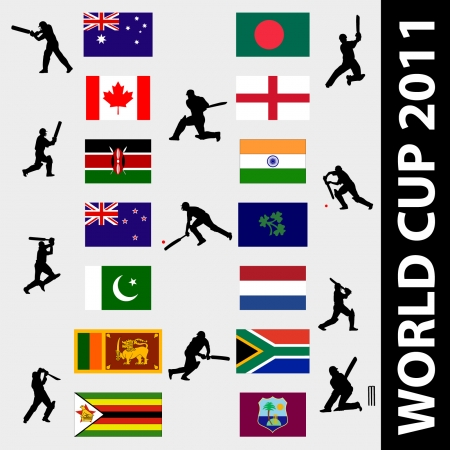 cricketer: cricket world cup - vector