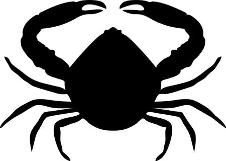 crab silhouette isolated - vector artwork Banco de Imagens - 154775232