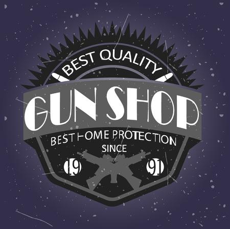 arsenal: Gun shop types and badges Illustration