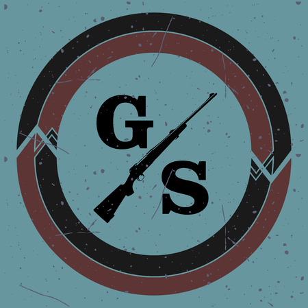 Gun shop logotypes and badges