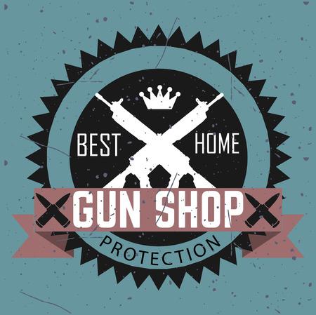 pistola: Tipos tienda de armas e insignias
