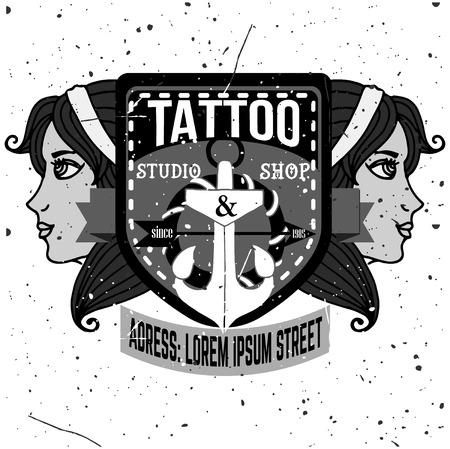 tshirt design: Homemade tattoo t-shirt design. Old school style Illustration