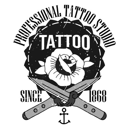 old style: Homemade tattoo t-shirt design. Old school style Stock Photo