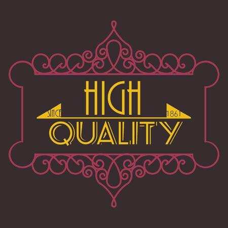 Bloeit kalligrafische monogram embleem sjabloon. Luxe elegant frame ornament lijn ontwerp illustratie. Goed voor Royal teken, Restaurant, Boutique, Cafe, Hotel, heraldisch, sieraden, mode Stock Illustratie