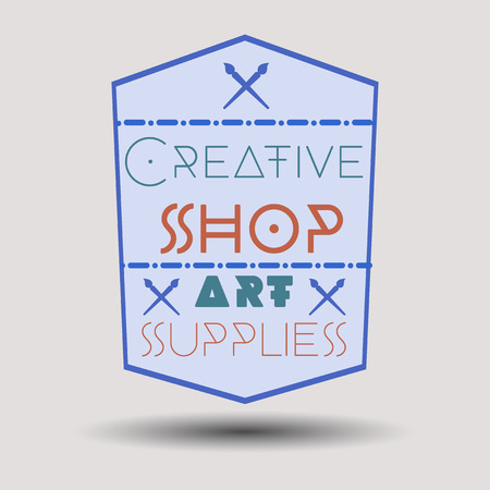 andy: Assorted color retro design insignias logotypes set. Templates set for banner, insignias, business brand design. Illustration