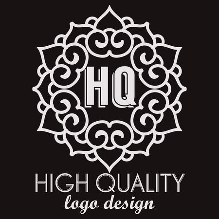 fine lines: Simple and graceful monogram design template. Elegant lineart logo design. Business sign, monogram identity for Restaurant, Boutique, Cafe, Hotel, Heraldic, Fashion and other vector illustration Illustration