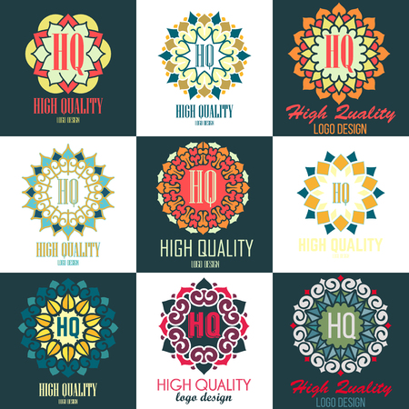 mandala: Mandalas collection. Round Ornament Pattern. Vintage decorative elements. Hand drawn high quality logo templates set. Islam, Arabic, Indian, ottoman motifs.