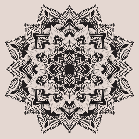 mandala: Mandala. Ethnic decorative elements. Hand drawn background. Islam, Arabic, Indian, ottoman motifs.