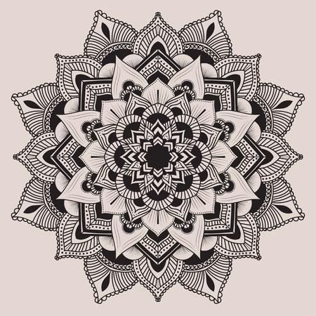 mandala tattoo: Mandala. Ethnic decorative elements. Hand drawn background. Islam, Arabic, Indian, ottoman motifs.