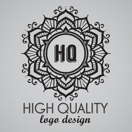 boutique hotel: Simple monogram design template. Elegant frame ornament line design. Good for Restaurant, Boutique, Hotel, Heraldic, Jewelry.