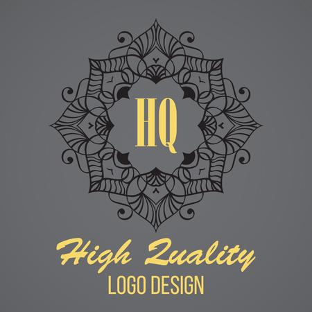 boutique hotel: Simple monogram design template. Elegant frame ornament line logo design. Good for Restaurant, Boutique, Hotel, Heraldic, Jewelry.