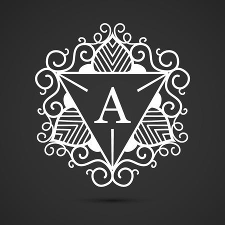 luxo: Logo Carta de luxo. Simples e elegante geométrica de design de logotipo, lineart elegante design de logotipo vector de luxo