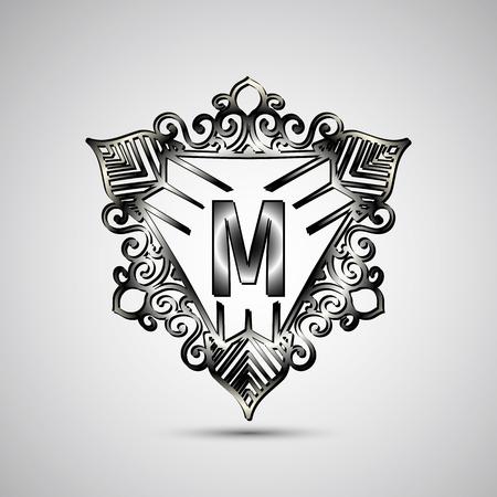 luxo: Logo Carta de luxo. Simples e elegante geom