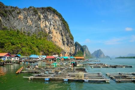 Koh Panyee fisherman village on the water of Phang Nga Bay, Thailand photo