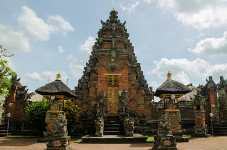Bali temple entrance photo